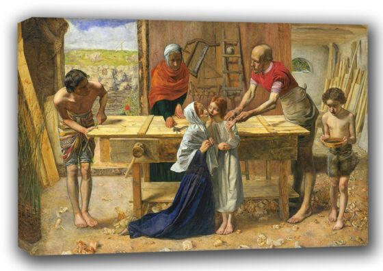 Millais, John Everett: Christ/Jesus in the House of His Parents. Fine Art Canvas. Sizes: A3/A2/A1 (00703)